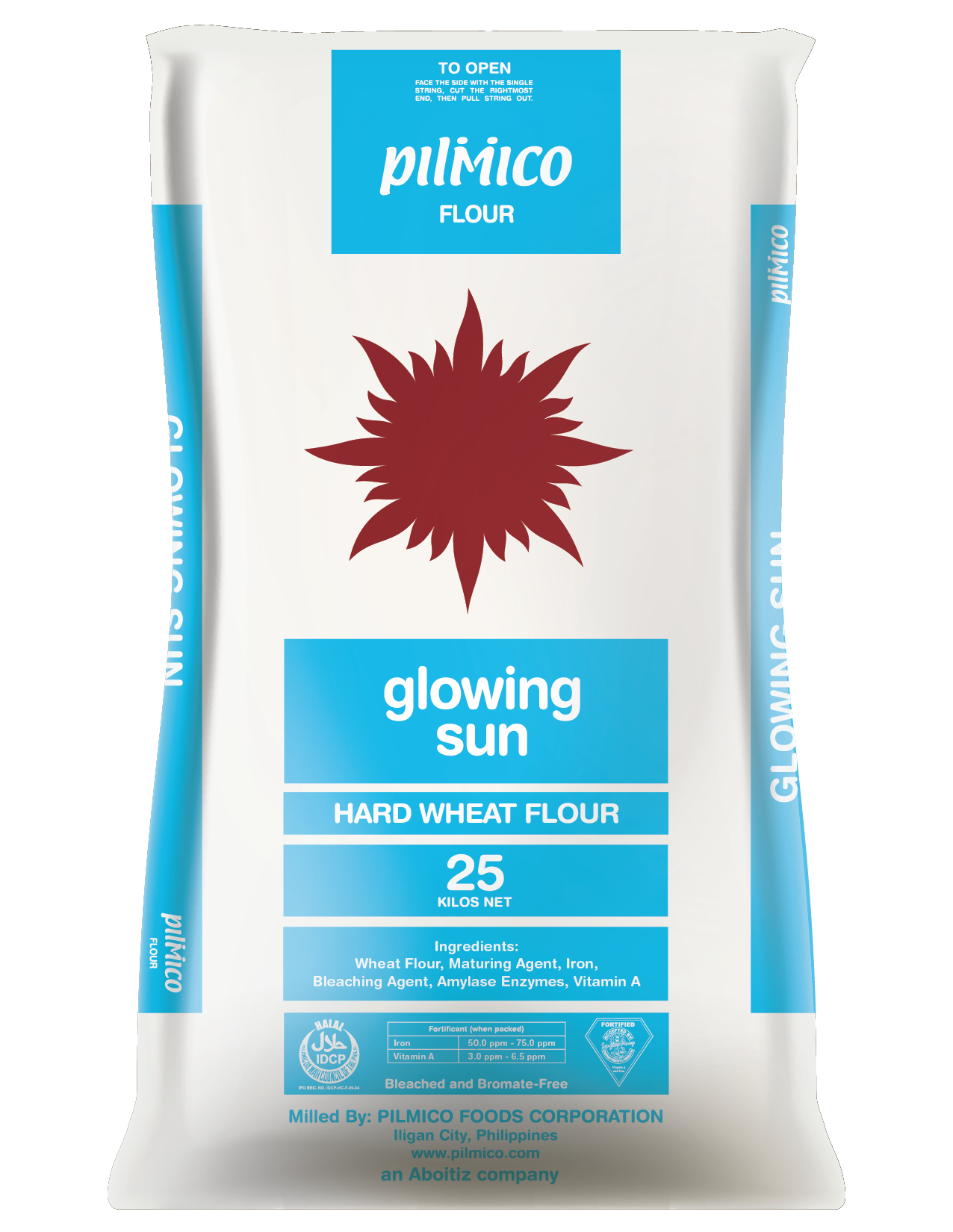 Pilmico Flour Sack 2018 - Glowing Sun Hard Wheat Flour 25kg