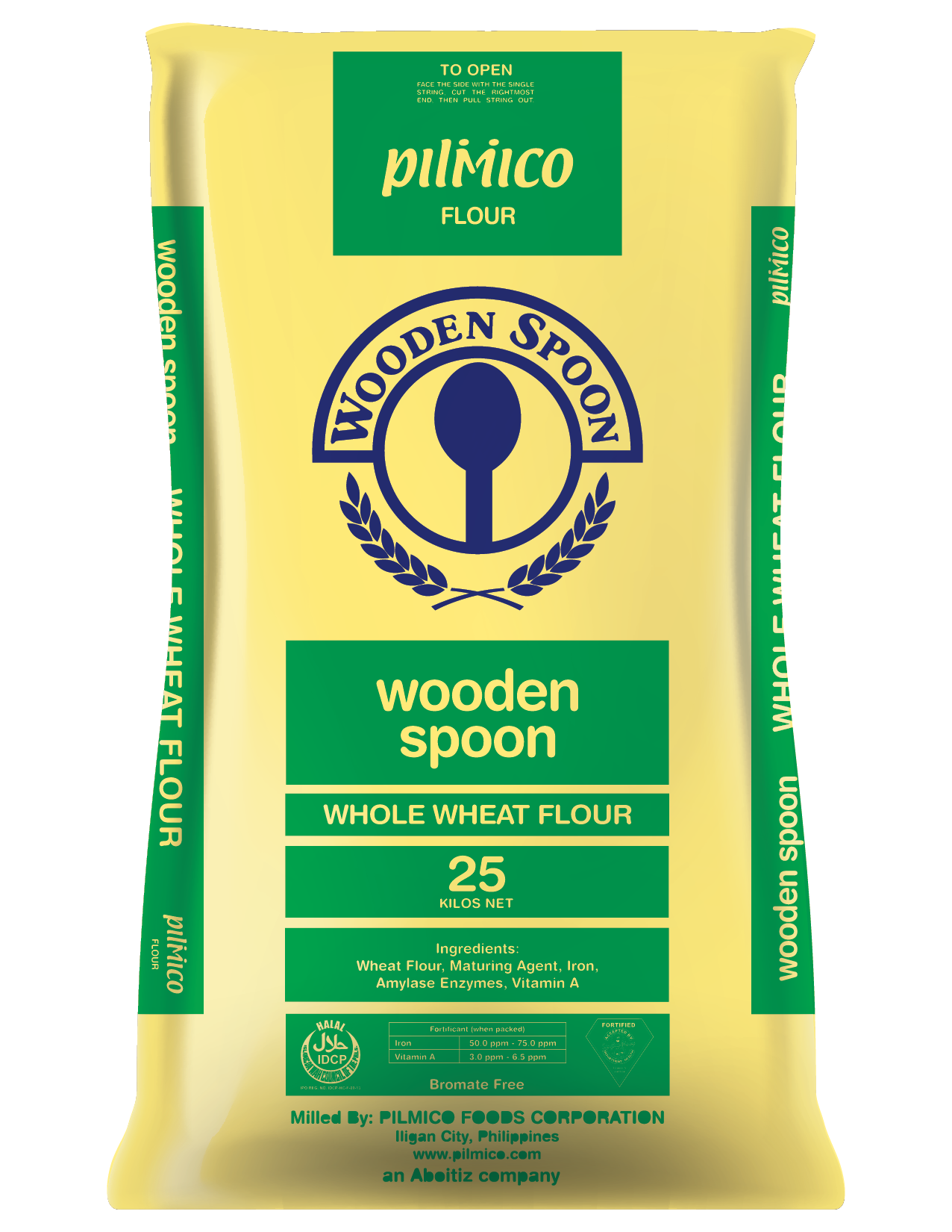 Pilmico Flour Sack 2018 - Wooden Spoon Whole Wheat Flour 25kg