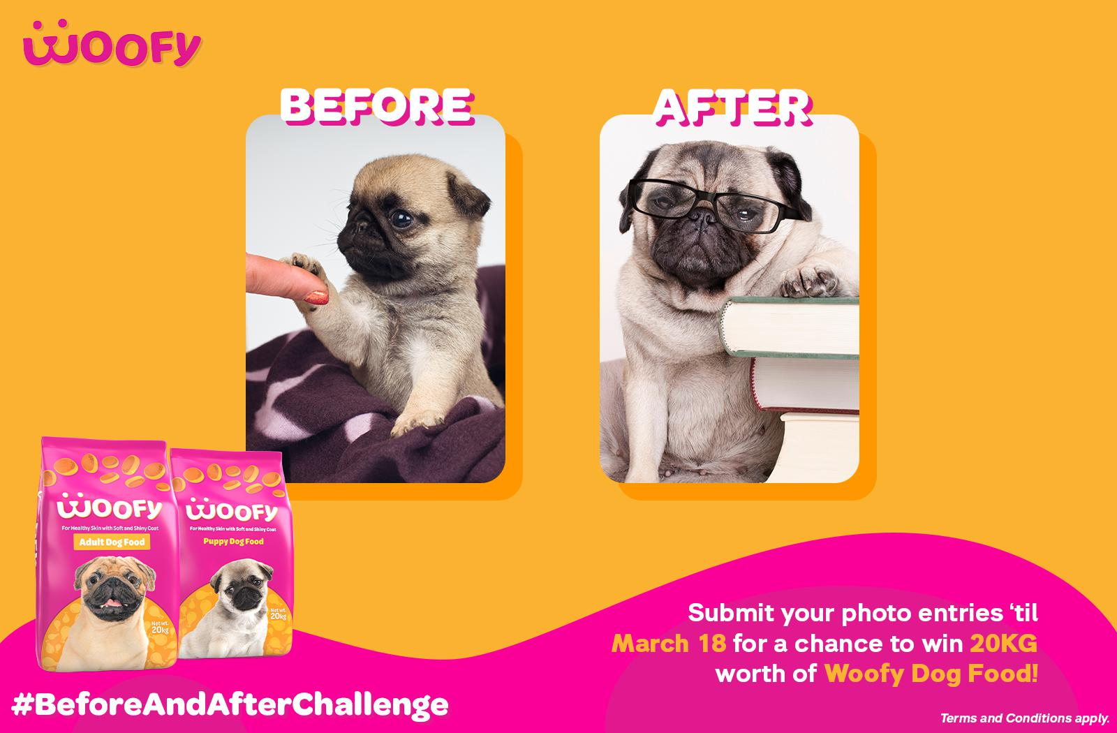 Woofy Before N After Challenge
